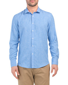 VINCE CAMUTO Performance Long Sleeve Woven Shirt