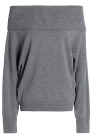 CHALAYAN Off-the-shoulder wool and cashmere-blend