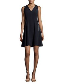 T Tahari Annalise Fit-&-Flare Dress STARGAZER