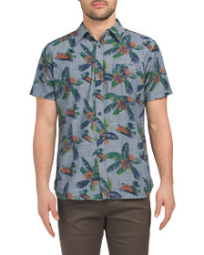 LEE Short Sleeve Tropical Print Chambray Shirt