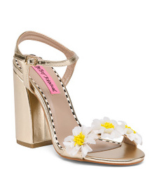 BETSEY JOHNSON One Band Floral Sandals