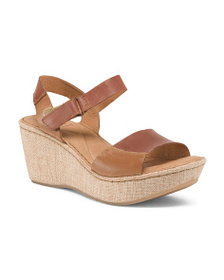 BORN Wedge Leather Sandals