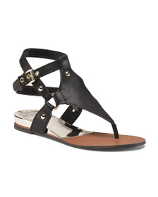 VINCE CAMUTO Gladiator Ankle Strap Leather Sandals