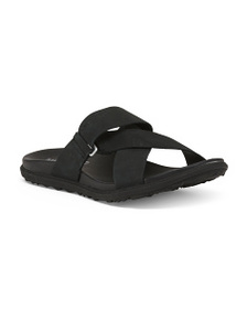 MERRELL Leather All Day Comfort Slide Sandals
