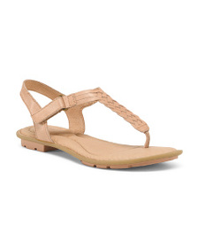 BORN T Strap Leather Sandals