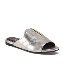 CHARLES DAVID Made In Italy Leather Slide Sandals