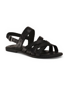 BORN Strappy Leather Sandals