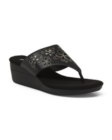 A2 BY AEROSOLES Wedge Thong Sandals