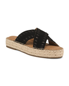 AEROSOLES Cross Band Flat Suede Espadrilles