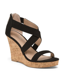 CHARLES BY CHARLES DAVID Cork Bottom Strappy Wedge