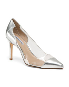 CHARLES DAVID Pointy Toe Leather Pumps