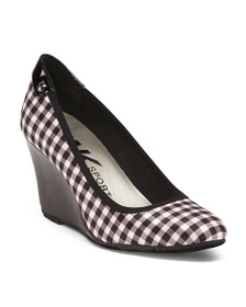 ANNE KLEIN Gingham Wedges