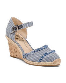 LIFESTRIDE Wide Comfort Chambray Wedges