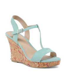 CHARLES BY CHARLES DAVID T-strap Platform Embroide