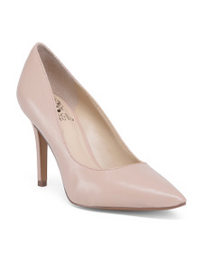 VINCE CAMUTO Leather Pointy Toe Pumps
