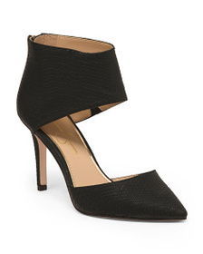 JESSICA SIMPSON Embossed Snake Two Piece Pumps