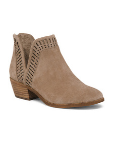 VINCE CAMUTO Suede Side Cut Ankle Booties