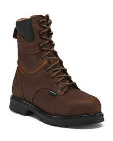 TIMBERLAND Wide Lace Up Steel Toe Boots