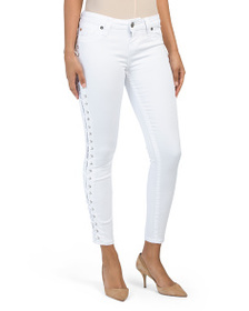 TRUE RELIGION Skinny Jeans With Lace Up Sides
