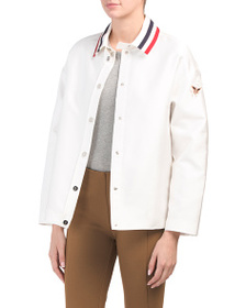 MONCLER Made In Italy Striped Collar Outwear Jacke