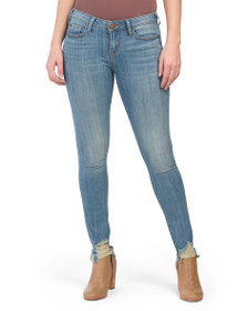 TRUE RELIGION Halle Mid Rise Jeans With Destructed