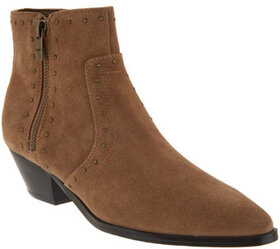 Marc Fisher Leather Western Detailed Ankle Boots -