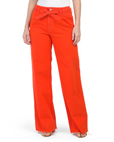 J BRAND High Rise Belted Wide Leg Pants