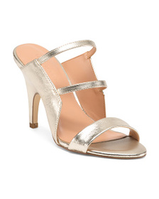 HALSTON HERITAGE Stiletto Heel Leather Slide Sanda