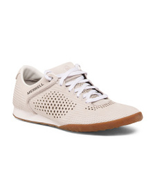MERRELL Leather Lace Up Comfort Sneakers