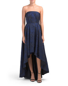 LAUNDRY BY SHELLI SEGAL Strapless Hi-lo Gown