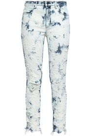 ALEXANDER WANG Distressed bleached mid-rise skinny