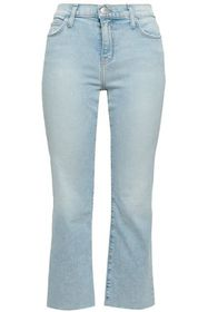CURRENT/ELLIOTT Cropped faded mid-rise bootcut jea