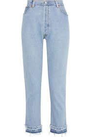 RE/DONE by LEVI'S No Tears cropped distressed high