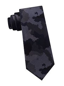 Michael Kors Optical Camo Printed Tie DARK NAVY