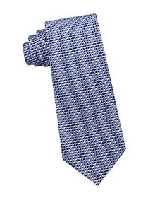Michael Kors Interlinked Silk Tie NEW NAVY