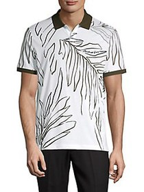 Michael Kors Printed Cotton Polo WHITE
