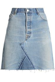RE/DONE by LEVI'S Frayed denim mini skirt