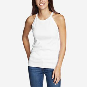 Women's Favorite Sleeveless Halter Top - Solid