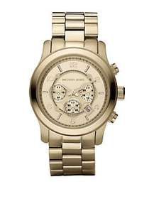 Michael Kors Runway Goldtone Stainless Steel Chron