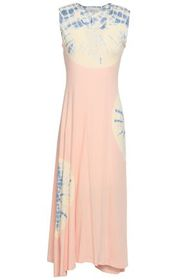 KAIN Tie-dyed cotton and modal-blend jersey midi d