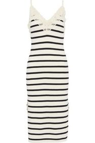 GOEN.J Crochet-trimmed striped French cotton-terry