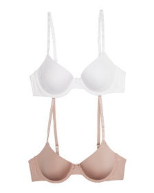 MAIDENFORM 2pk Demi Coverage And Lightly Lined Bra