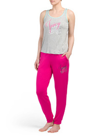 JUICY COUTURE Knit Tank And Jogger Pj Set