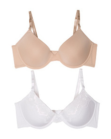 MAIDENFORM 2pk Push Up Lace Tailored Bras