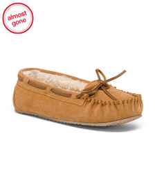 MINNETONKA Suede Allie Junior Trapper Moccasins