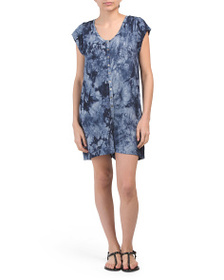 C & C CALIFORNIA Tie Dye Cover-up Romper