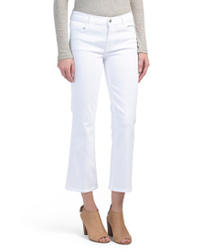 J BRAND Selena Mid Rise Cropped Bootcut Jeans