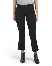 J BRAND Made In Usa Mid Rise Cropped Bootcut Jeans