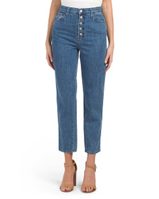 J BRAND Heather High Rise Button Fly Jeans