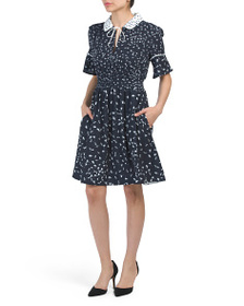 FRENCH CONNECTION Collared Floral Dress